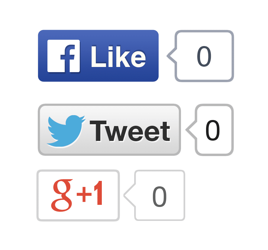 Social Buttons High Res