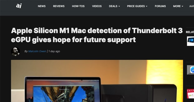 M1 No eGPU Support