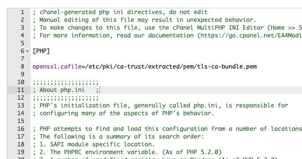 PHP.ini File